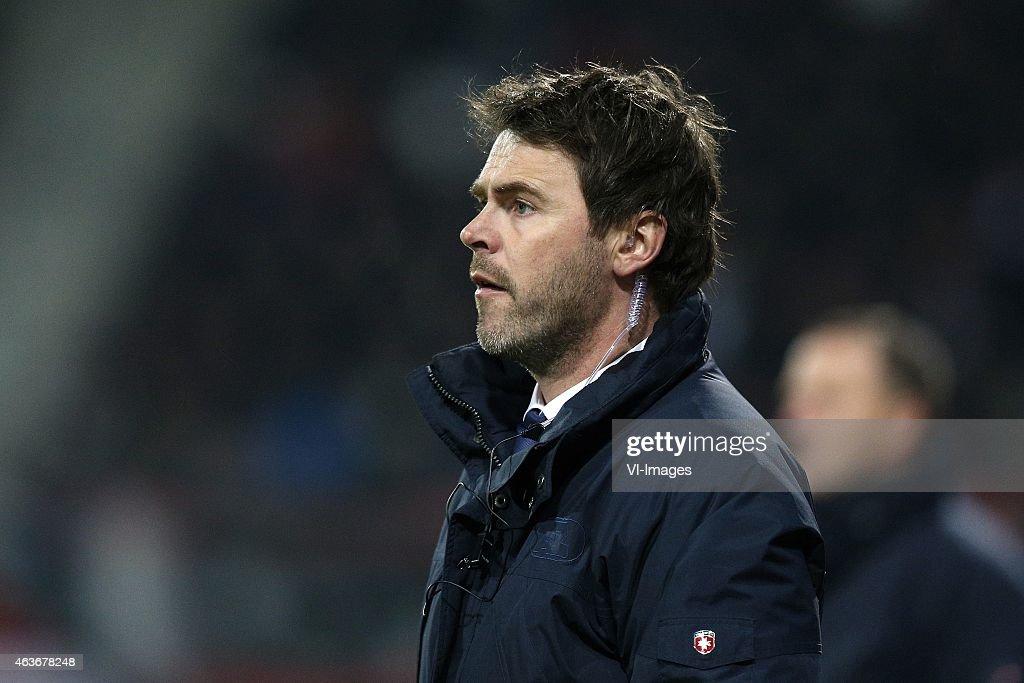 Assistant trainer Dennis Haar of AZ during the Dutch ...