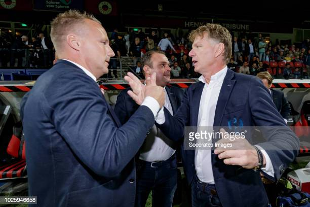 assistant trainer Edwin de Graaf of ADO Den Haag coach Alfons Groenendijk of ADO Den Haag during the Dutch Eredivisie match between Excelsior v ADO...