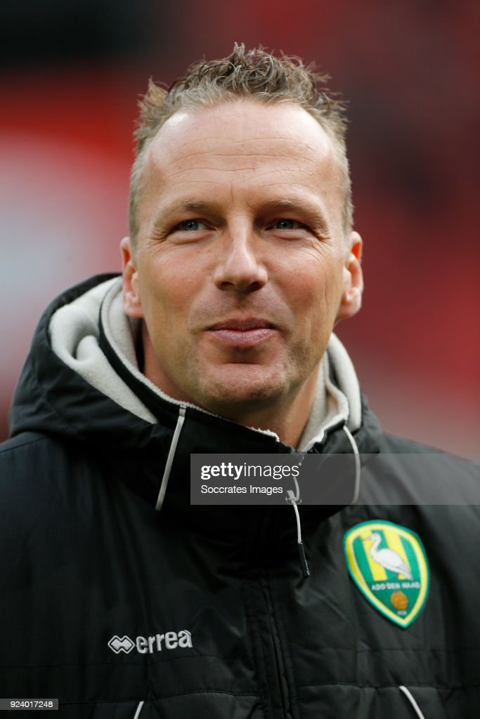 assistant trainer Edwin de Graaf of ADO Den Haag during the Dutch Eredivisie match between Ajax v ADO Den Haag at the Johan Cruijff Arena on February 25, 2018 in Amsterdam Netherlands