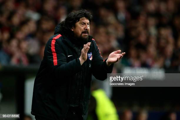 assistant trainer German Burgos of Atletico Madrid during the UEFA Europa League match between Atletico Madrid v Arsenal at the Estadio Wanda...