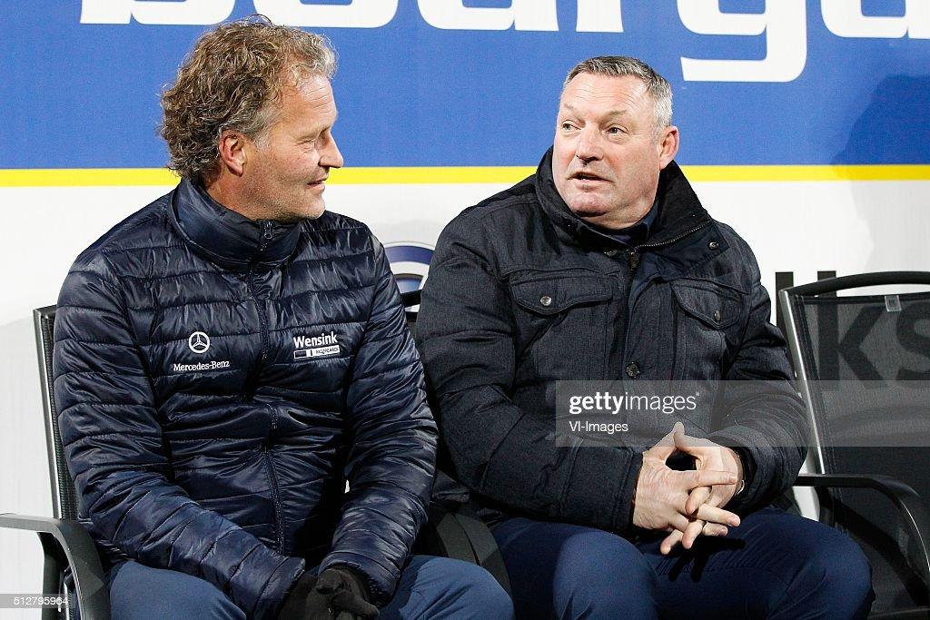 Assistant Trainer Gert Peter De Gunst Of Pec Zwolle Coach Ron Jans