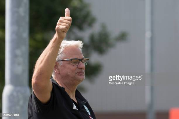 Assistant trainer Hennie Spijkerman of FC Groningen during the Club Friendly match between vv 't Fean '58 v FC Groningen at the Sportpark It Ketting...