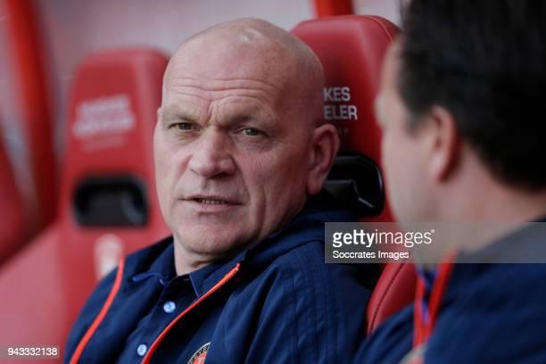 assistant trainer Jan Wouters of Feyenoord during the Dutch Eredivisie match between Fc Twente v Feyenoord at the De Grolsch Veste on April 8 2018 in...