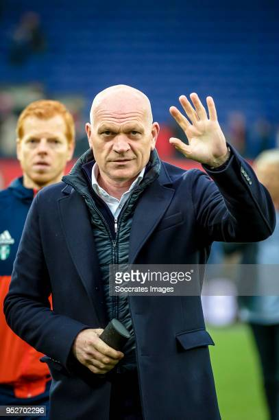 assistant trainer Jan Wouters of Feyenoord during the Dutch Eredivisie match between Feyenoord v Sparta at the Stadium Feijenoord on April 29 2018 in...