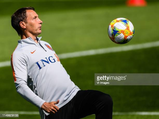 assistant trainer Michel Kreek of Netherlands women during a training session prior to the FIFA Women's World Cup France 2019 group E match between...