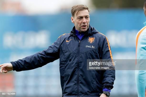 assistant trainer Paul Bosvelt of Holland U21 during the Training Holland U21 at the Ciutat Esportiva Dani Jarque on March 25 2018 in Mataro Spain