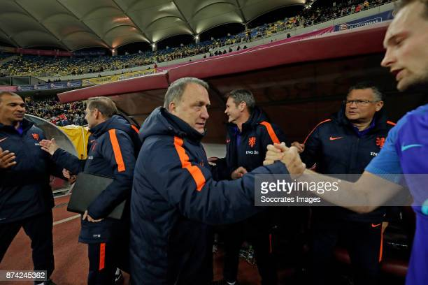 assistant trainer Ruud Gullit of Holland coach Dick Advocaat of Holland Daley Blind of Holland during the International Friendly match between...