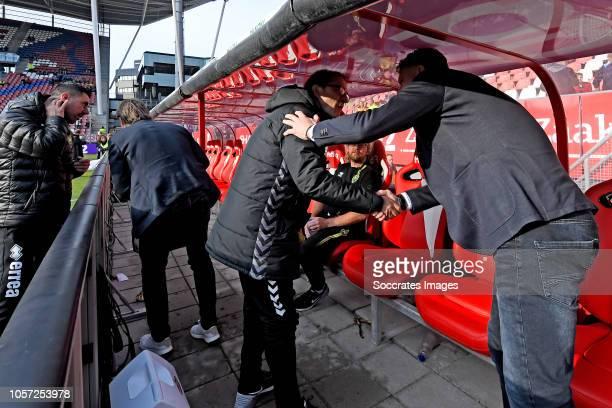 assistant trainer Zeljko Petrovic of FC Utrecht coach Alfons Groenendijk of ADO Den Haag during the Dutch Eredivisie match between FC Utrecht v ADO...
