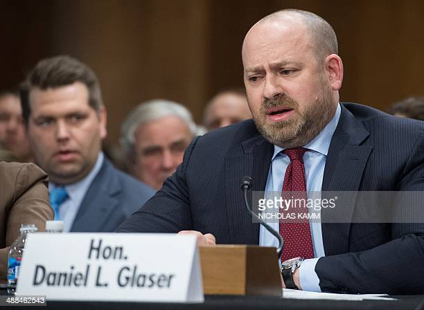 Assistant Treasury Secretary for Terrorist Financing Daniel Glaser testifies before a Senate Foreign Relations Committee hearing on the situation in...