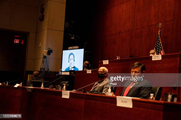 Assistant US Attorney Aaron SJ Zelinsky participates remotely at a hearing of the US House Judiciary Committee on June 24 2020 in Washington DC...