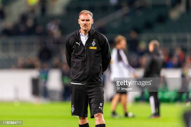 assistants coach Alexander Zickler of Borussia Moenchengladbach looks on during the UEFA Europa League group J match between Borussia...