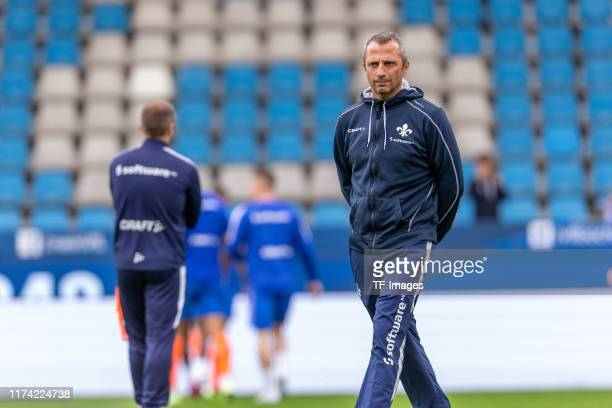 assistants coach Iraklis Metaxas of SV Darmstadt 98 looks on during the Second Bundesliga match between VfL Bochum 1848 and SV Darmstadt 98 at...