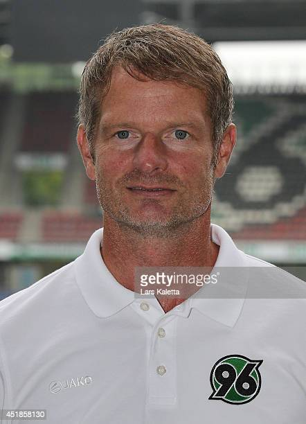 Assistent coach Jörg Sievers poses during the team presentation at HDIArena on July 8 2014 in Hanover Germany