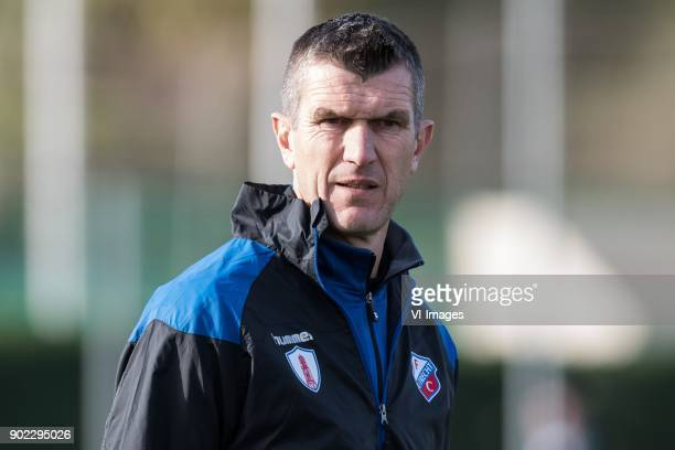assistent coach Marinus Dijkhuizen of FC Utrecht during the friendly match between FC Utrecht and FC Wurzburger Kickers at the La Manga Club Resort...