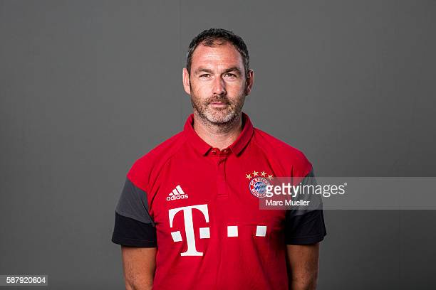 Assistent Coach Paul Clement of FC Bayern Munich pose during the team presentation on August 10 2016 in Munich Germany