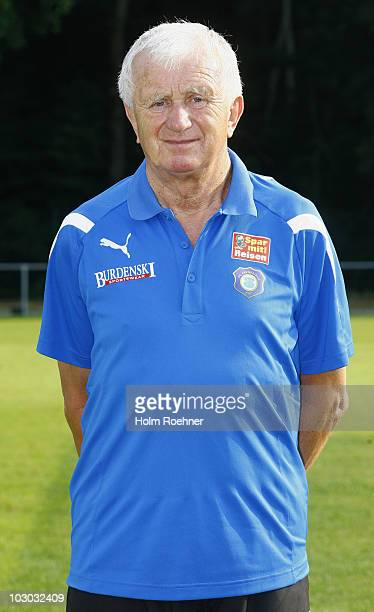 Assistent team manager Guenter Flache poses during the Bundesliga 2ndTeam Presentation of Erzgebirge Aue on July 22 2010 in Aue Germany