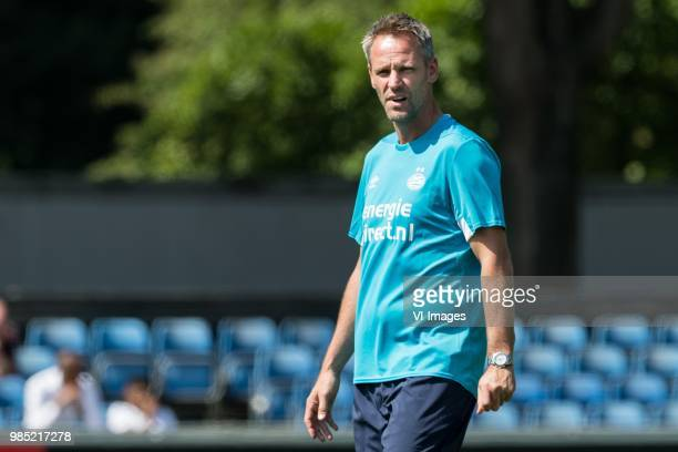 assistent trainer Andre Ooijer of PSV during a trainings session of PSV Eindhoven at the Herdgang on June 27 2018 in Eindhoven The Netherlands
