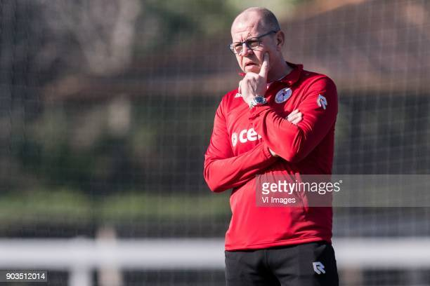assistent trainer Fred Grim of Sparta Rotterdam during a training session of Sparta Rotterdam at the Sante Maria Polo Club on January 10 2018 in...