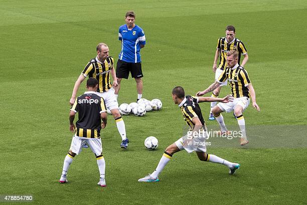 assistent trainer Jon Dahl Tomasson of Vitesse watches his players during the first training of the season of Vitesse Arnhem on June 28 2015 at...
