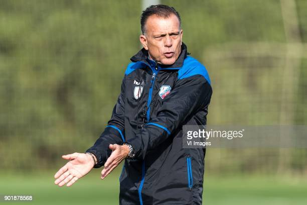 assistent trainer Luc Nijholt of FC Utrecht during a training session of FC Utrecht at the La Manga Club Resort on January 06 2018 in La Manga Spain