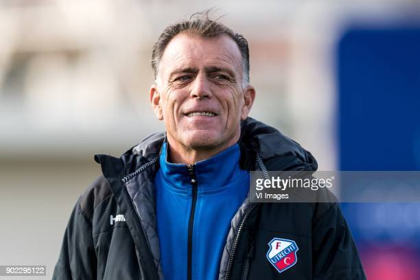 assistent trainer Luc Nijholt of FC Utrecht during the friendly match between FC Utrecht and FC Wurzburger Kickers at the La Manga Club Resort on...