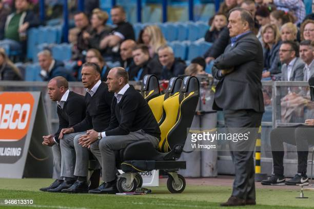 assistent trainer Nicky Hofs of Vitesse coach Edward Sturing of Vitesse assistant trainer Joseph Oosting of Vitesse coach Dick Advocaat of Sparta...
