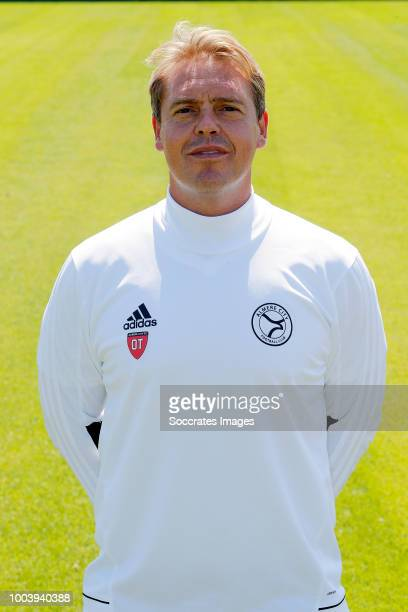 Assistent trainer Ole Tobiasen of Almere City during the Photocall Almere City at the Yanmar Stadium on July 16 2018 in Almere Netherlands
