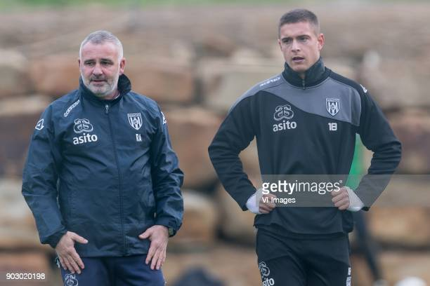 assistent trainer Rob Alflen of Heracles Almelo Kristoffer Peterson of Heracles Almelo during a training session of Heracles Almelo at the Don Julia...