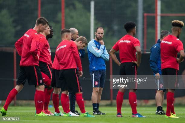 assistent trainer Sjors Ultee of FC Twente between the players of FC Twenteduring a training session at Trainingscentrum Hengelo on June 24 2017 in...