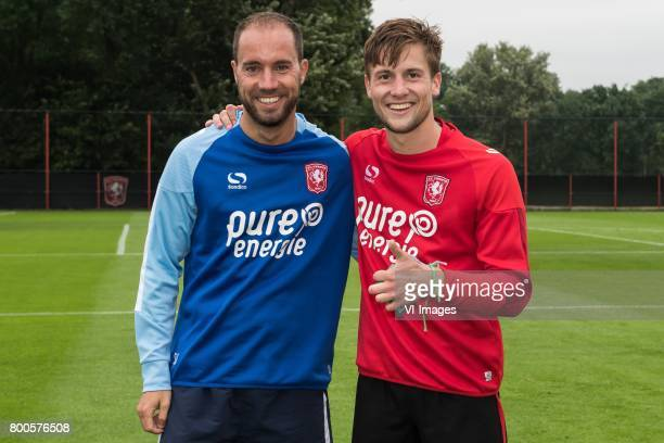 assistent trainer Sjors Ultee of FC Twente Hidde ter Avest of FC Twenteduring a training session at Trainingscentrum Hengelo on June 24 2017 in...