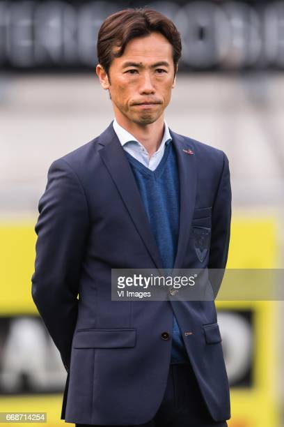 assistent trainer Toshiya Fujita of VVV Venloduring the Jupiler League match between RKC Waalwijk and VVV Venlo at the Mandemakers stadium on April...