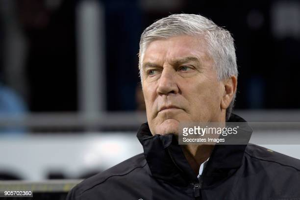 assistentcoach Cor Pot of Sparta Rotterdam during the Dutch Eredivisie match between Sparta v Vitesse at the Sparta Stadium Het Kasteel on January 16...