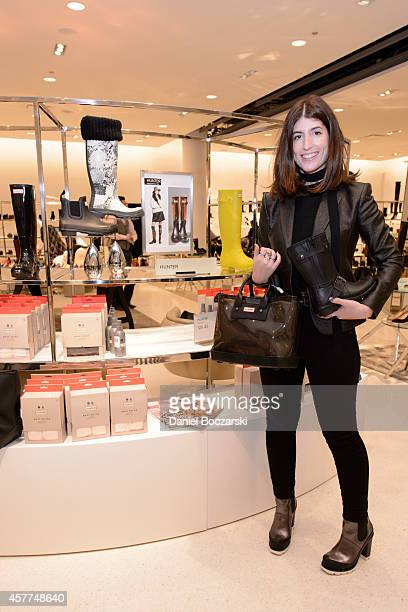 Associate Accessories Editor at Marie Claire Elana Zajdman attends Hunter X Marie Claire SHOES FIRST at Nordstrom Chicago on October 23 2014 in...