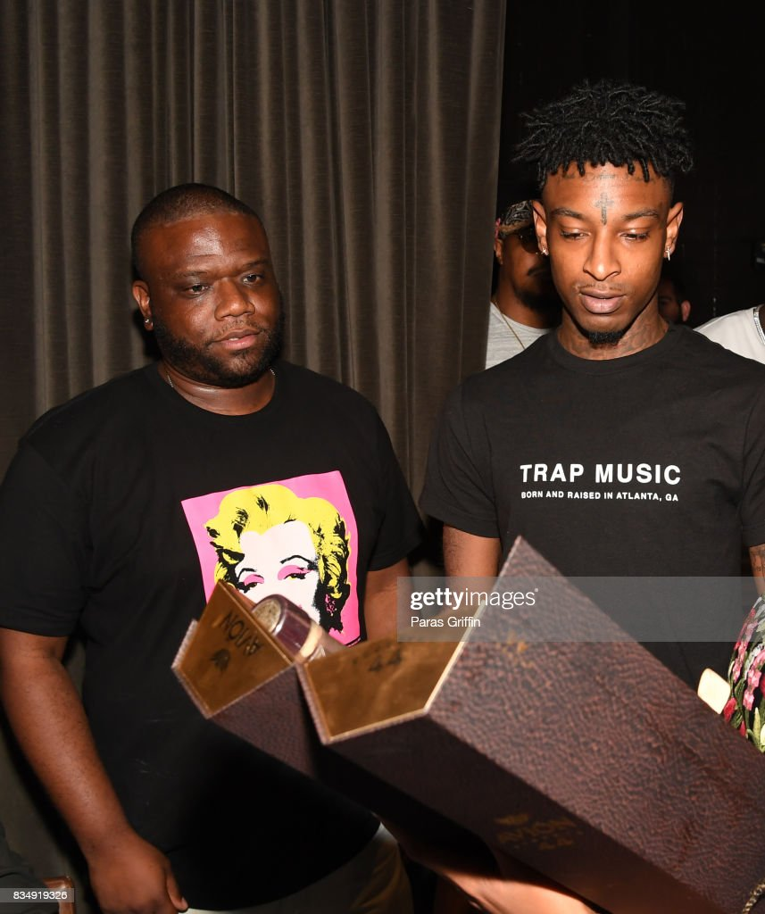 Associate Director Jason Riddick and 21 Savage at ASCAP x Avion Tequila presents The Dinner for 21 Savage at KR Steakhouse on August 17, 2017 in Atlanta, Georgia.
