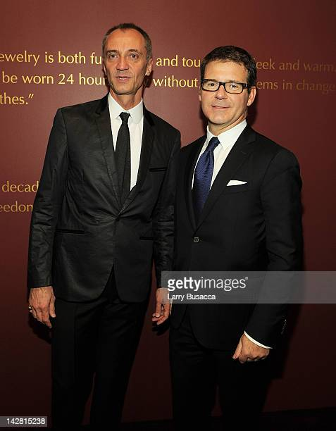 Associate Director of InHouse Information Michel Aliaga and Cartier International Director of Image Style and Heritage Pierre Rainero attend Cartier...