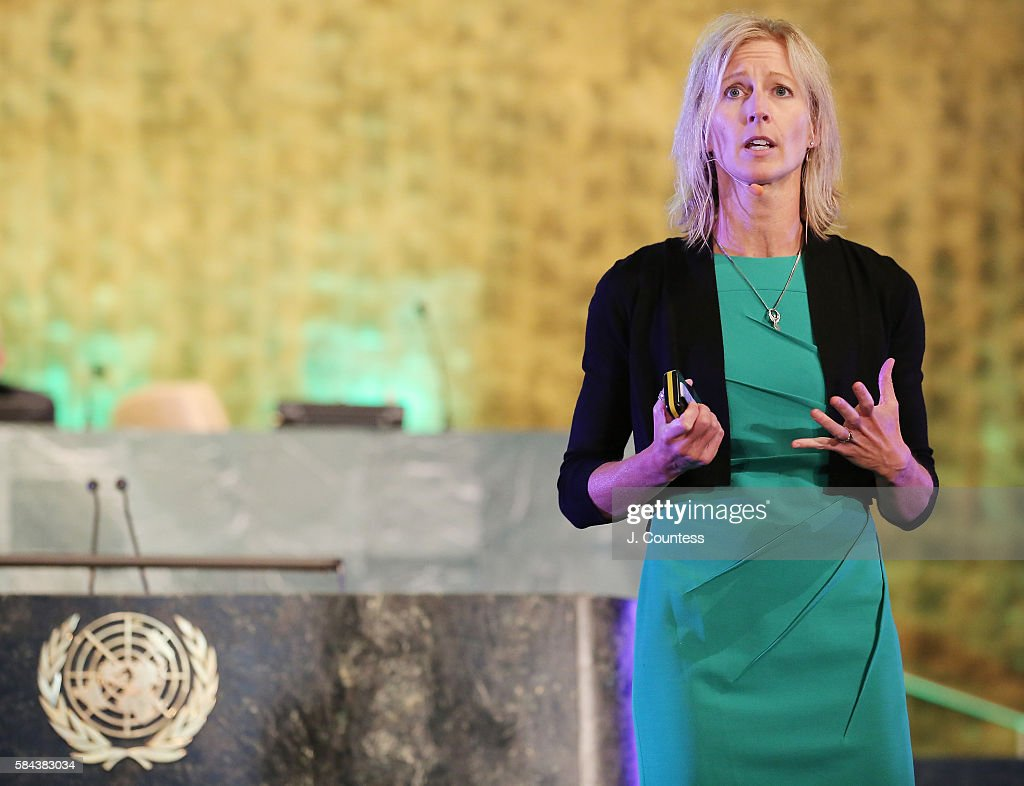 Associate Director of the MAPP Program at the University of Pennsylvania Leona Brandwene speaks at the Novus Summit at the United Nations on July 17, 2016 in New York City.