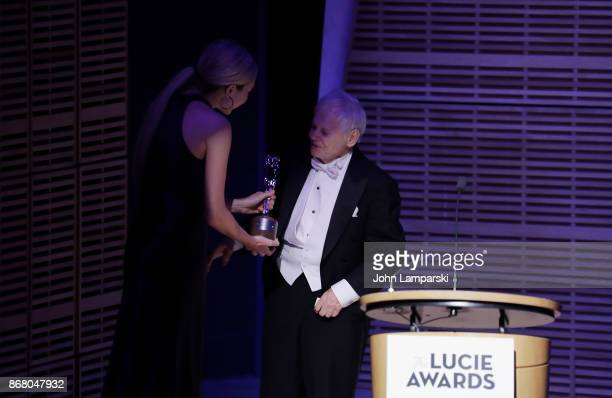 Associate editor at of the New Yorker Thea Traff presents Achievement in Photojournalism Award to Steve Schapiro at the 15th Annual Lucie Awards at...