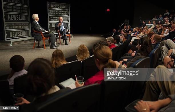 Associate Editor of the Washington Post Bob Woodward speaks at the Newseum during an event marking the 40th anniversary of Watergate at the Newseum...