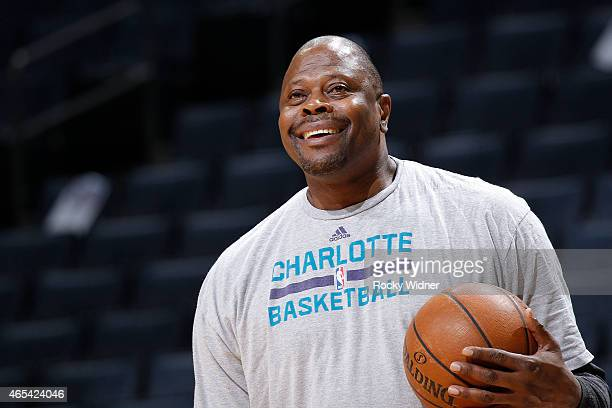 Associate Head coach Patrick Ewing coaches against the Los Angeles Lakers on March 3 2015 at at Time Warner Cable Arena in Charlotte North Carolina...