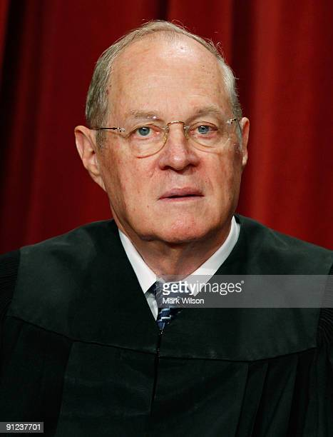 Associate Justice Anthony M Kennedy poses during a group photograph at the Supreme Court building on September 29 2009 in Washington DC The high...