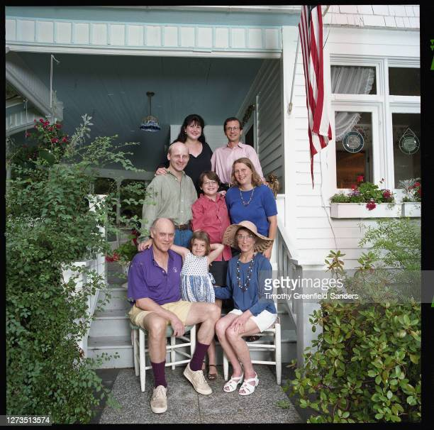 Associate Justice of the Supreme Court of the United States, Ruth Bader Ginsburg is photographed with family daughter-in-law Lisa Brauston,...
