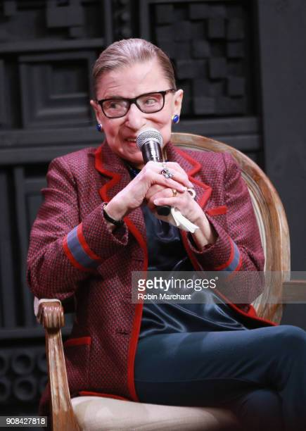 Associate Justice of the Supreme Court of the United States Ruth Bader Ginsburg attends the Cinema Cafe with Justice Ruth Bader Ginsburg and Nina...