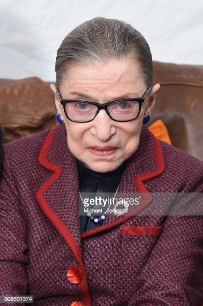 Associate Justice of the Supreme Court of the United States Ruth Bader Ginsburg attends the RBG Premiere during the 2018 Sundance Film Festival at...