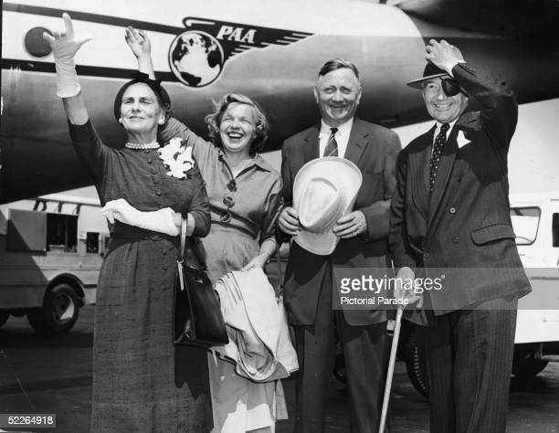 Associate Justice of the Supreme Court of the United States William O Douglas and former Ambassador to Great Britain Lewis W Douglas and their wives...