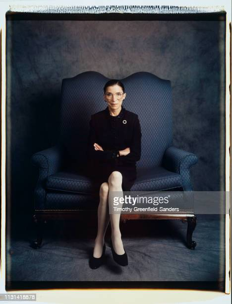 Associate Justice of the Supreme Court of the United States Ruth Bader Ginsburg is photographed for New York Times Magazine in 1997 in New York City