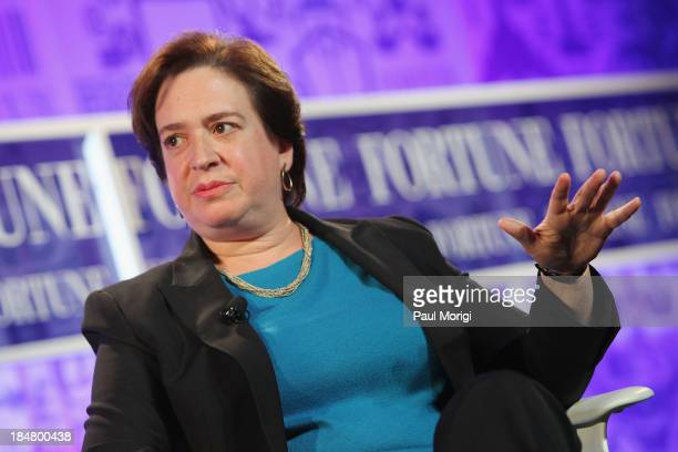 Associate Justice of the U.S. Supreme Court Elena Kagan speaks onstage at the FORTUNE Most Powerful Women Summit on October 16, 2013 in Washington,...