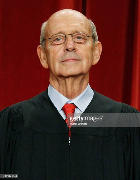 Associate Justice Stephen Breyer poses during a group photograph at the Supreme Court building on September 29, 2009 in Washington, DC. The high...