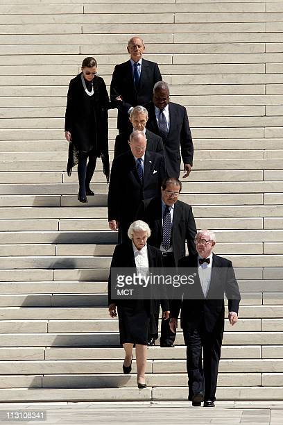 WASHINGTON DC Associate Justices of the Supreme Court from front to back John Paul Stevens Sandra Day O'Connor Antonin Scalia Anthony Kennedy David...