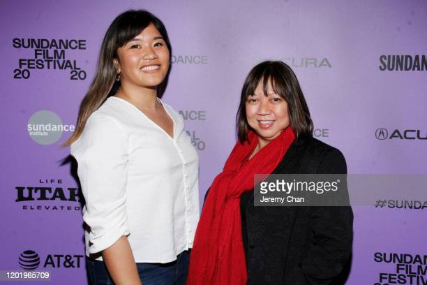 "Associate Producer Allana de Guzman and Writer/Director Ramona S. Diaz attend the ""A Thousand Cuts"" Premiere during the 2020 Sundance Film Festival..."