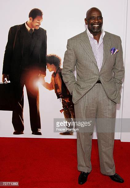 Associate producer Chris Gardner arrives at the World Premiere of Columbia Pictures' 'The Pursuit of Happyness' at the Mann Village Theatre and Mann...